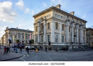 Oxford England UK 02/16/2018: Ashmolean Museum