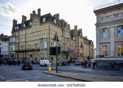 Oxford England UK 02/16/2018: Macdonald Randolph Hotel