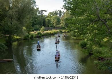 Oxford, England/United Kingdom - July 4 2019: University Parks, River Cherwell
