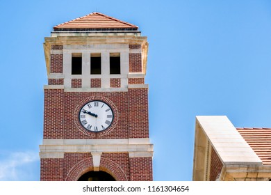 OXFORD, MS/USA - JUNE 7, 2018: Peddle Bell Tower at  Paris-Yates Chapel on the campus of the University of Mississippi.