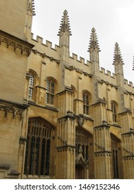 Oxford, Oxfordshire, England: Aug 2018 - The exterior of the Bodleian Library,  England, United Kingdom, Europe