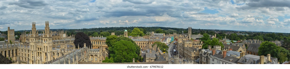 Oxford Panorama from St. Mary's Church steeple.