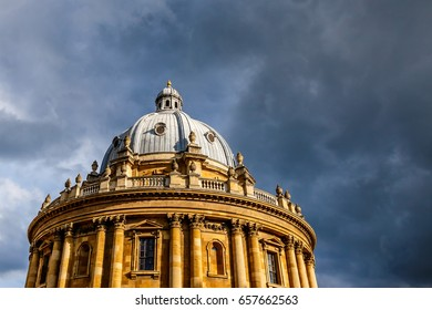 Oxford Radcliffe camera at gloomy day, UK