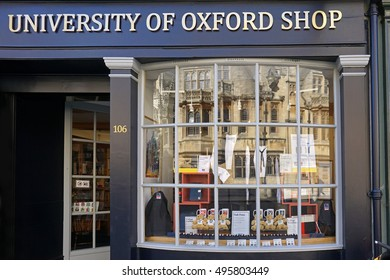 OXFORD - SEPTEMBER 2016:  Oxford University students are required to wear formal gowns, of the type displayed in this shop, as seen in Oxford circa 2016.