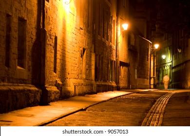 Oxford Street by Night, Oxford, England