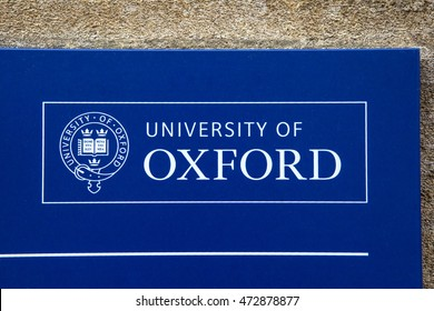 OXFORD, UK - AUGUST 12TH 2016: The logo of the University of Oxford, taken in Oxford on 12th August 2016.
