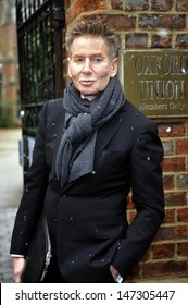 Oxford, UK. Calvin Klein arrives to speak at the Oxford Union. 11th February 2013.