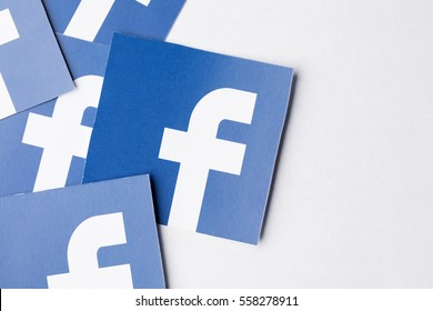 OXFORD, UK - JANUARY 17th 2017: Facebook logo printed onto paper. Facebook is a popular social media service founded in 2004