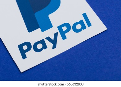 OXFORD, UK - JANUARY 31st 2017: Paypal logo printed onto paper. Paypal is an internet based digital money transfer service