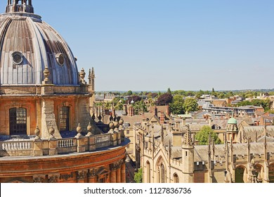 Oxford, UK - July 02 2018: Oxford is the oldest university in the UK and known for its dreaming spires.