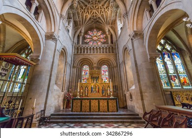 OXFORD, UK - JULY 19, 2015: The cathedral of Christ Church, University of Oxford, England. It is the college chapel for Christ church.