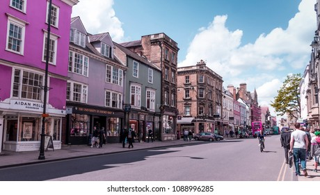 Oxford, UK - June 08, 2015: Beautiful view of High Street at summer sunny day