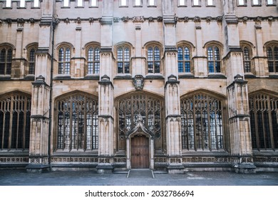 Oxford, UK - June2, 2021: Bodleian Library building, one of the oldest libraries in Europe (est.1602)