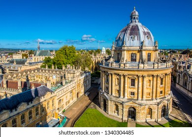 OXFORD, UK - SEPTEMBER 12, 2017: Radcliffe Camera, Bodleian Library, Oxford University, Oxford, England, United Kingdom