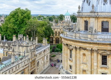 Oxford, United Kingdom - August 21, Radcliffe Camera on August 21, 2016 in Oxford, United Kingdom. It is a large circular building with a lofty dome, built by James Gibbs between 1737 and 1749.