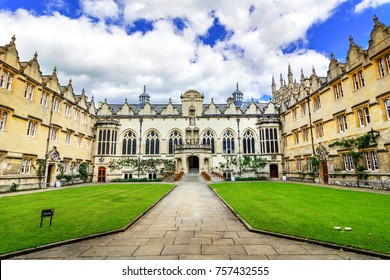 Oxford, United Kingdom - June 03, 2015:Oriel College, Oxford, England, United Kingdom: The Provost and Scholars of the House of the Blessed Mary the Virgin in Oxford, commonly called Oriel College