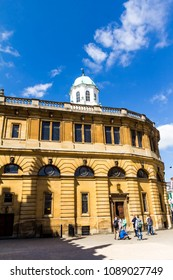 Oxford, United Kingdom- June 08, 2015: Sheldonian Theatre in University . It's used for music concerts, lectures and university ceremonies, but not for drama.