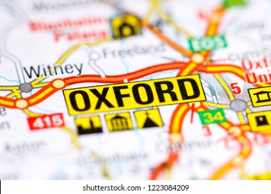 Oxford. United Kingdom on a map