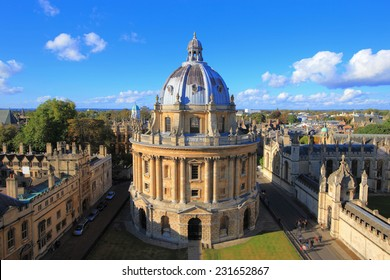 The Oxford University City, Photoed in the top of tower in St Marys Church. All Souls College, United Kingdom, England