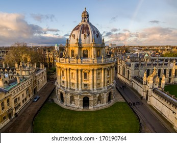 The Oxford University library. Photoed in the top of tower in St Marys Church.There was a rainbow behind of it, and the sunshine is so amazing.