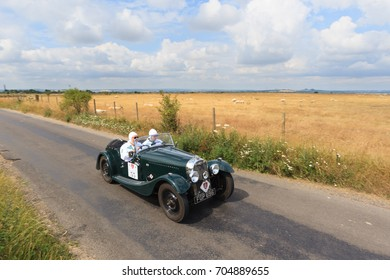 OXFORDSHIRE, ENGLAND - JULY 10, 2017: A 1938 British Morgan 4-4 Series 1 competes on the 2017 RAC 1000 Mile Trial Rally for Pre War cars organised by the Historic Endurance Rallying Organisation