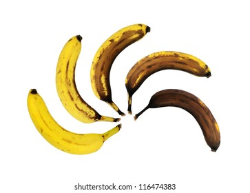 Oxidation of a banana during six days