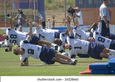OXNARD, CA - August 4: Dallas Cowboys at Training Camp, Oxnard, California August 4, 2008