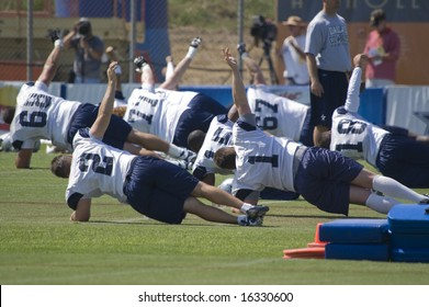 OXNARD, CA - August 4: Dallas Cowboys Training Camp in Oxnard, California, August 4, 2008