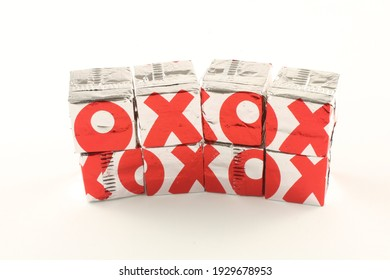 Oxo brand beef stock cubes and trademark logo. Oxo is owned by Premier Foods.  Lancashire, UK, 05-03-2021