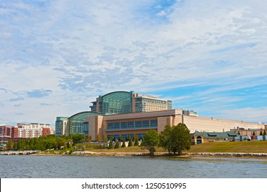 OXON HILL, MARYLAND, USA - SEPTEMBER 11, 2016: Gaylord National Resort and Convention Center offers luxurious comfort and hosts amazing events all year around.