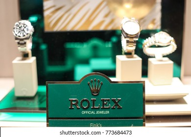 Oxon Hill, MD - December 11, 2017: A Rolex watch store opened its doors at the brand new MGM Resorts International and Casino at National Harbor.