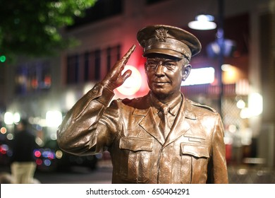 Oxon Hill, MD - May 28, 2017: A statue of President & Supreme Allied Commander in Europe General Dwight D. Eisenhower.