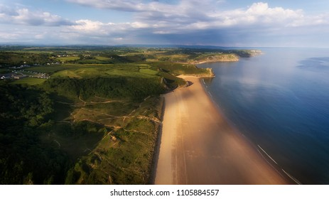 Oxwich Bay, Crawley Woods, The Great Tor and Three cliffs Bay on the Gower peninsula in Swansea, UK