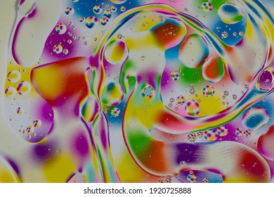 Oxygen bubbles in a liquid as background