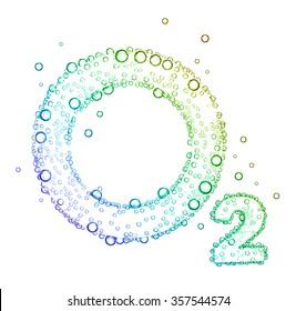 oxygen bubbles O2