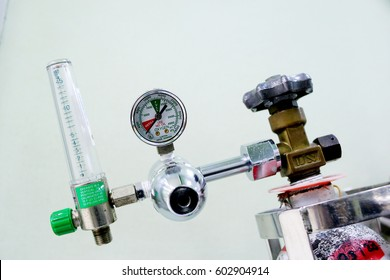Oxygen cylinder medical equipment used in hospitals.