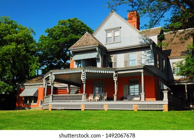 Oyster Bay, NY, USA June 30 Sagamore Hill, the former home of President Teddy Roosevelt, is now a museum in Oyster Bay, Long Island, New York