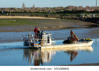 oyster farmers returning to port