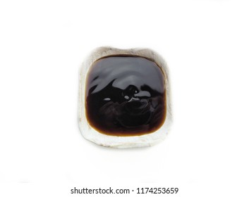 Oyster sauce isolated white background