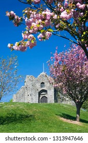 Oystermouth Castle, Mumbles, Swansea, Gower. Wales, UK