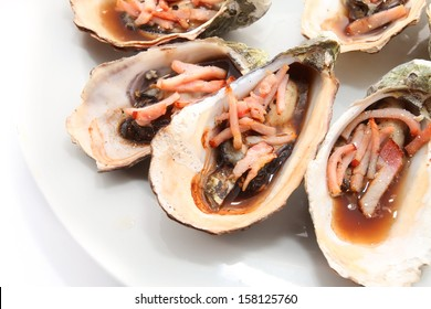 oysters baked with bacon