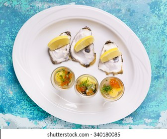 oysters plate