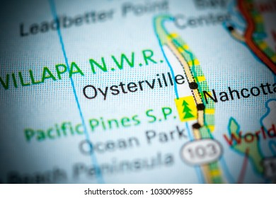 Oysterville. Washington State on a map.