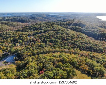 Ozark Mountains, Rolling Hills, Lake in Background
