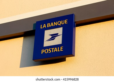 OZOIR LA FERRIERE, FRANCE - MAY 4, 2016: La Poste is a French multi-business company, both operator of postal services, banking, insurance, mobile telephony operator, digital service provider.