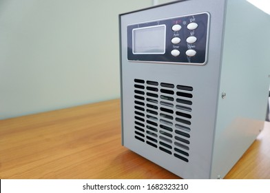 Ozone generators placed on the table in office room to cleaning and disinfection during corona-virus epidemic. (Covid 19) - Shutterstock ID 1682323210