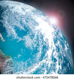 Ozone layer concept. Elements of this image furnished by NASA.