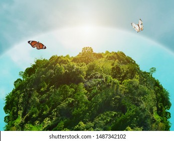 Ozone protect World green plants ,Environment and ecology concept. - Shutterstock ID 1487342102