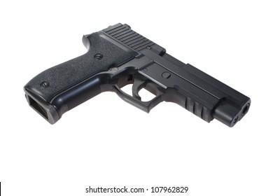 P226 hand gun isolated on white background