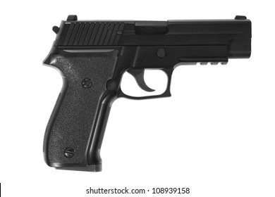 P226 hand gun isolated on white background